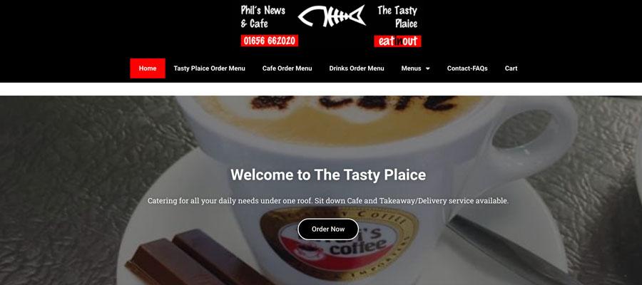 The Tasty Plaice Website design