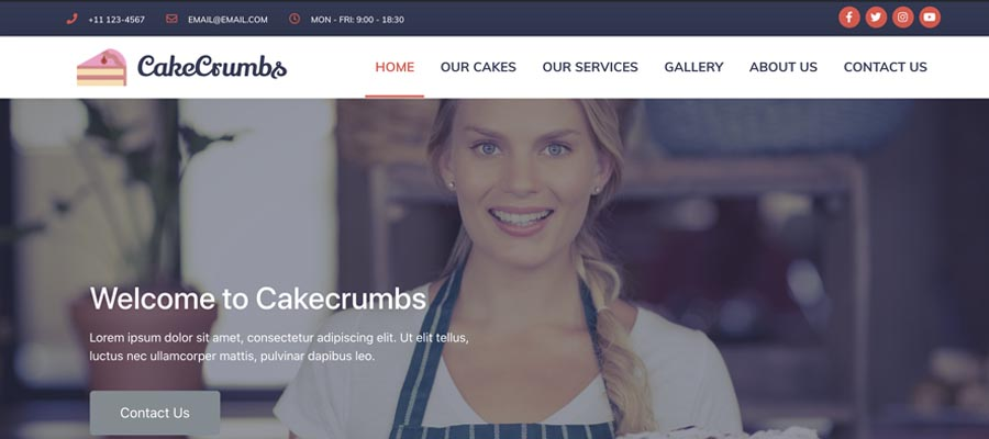 Cake Crumbs website