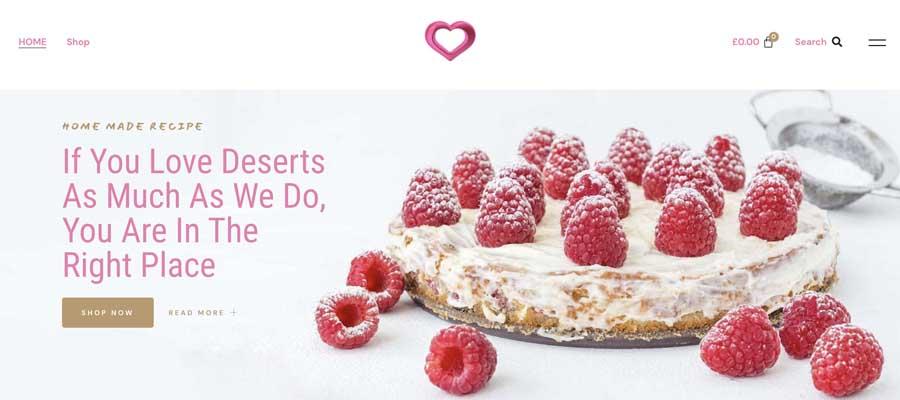 Love Deserts Cake Website